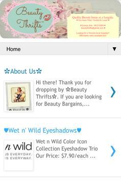Beauty Thrifts apk screenshot