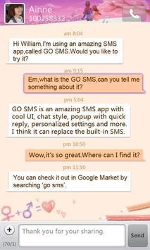 GO SMS Pro Valentine love them poster