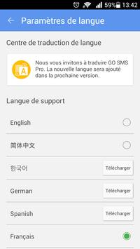 GO SMS Pro French language pac apk screenshot