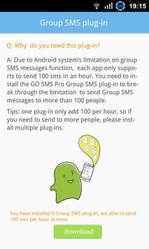 GO SMS Group sms plug-in 4 poster