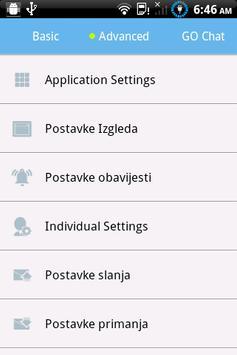 GO SMS Pro Croatian language poster