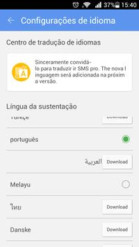 GO SMS Pro Portuguese language apk screenshot