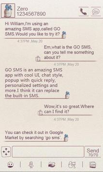 ZMilk GO SMS THEME poster