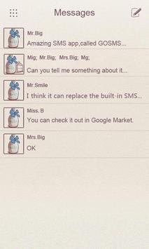 ZMilk GO SMS THEME apk screenshot