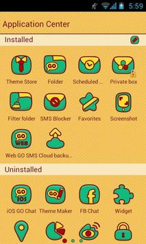CuteLion Theme GO SMS apk screenshot
