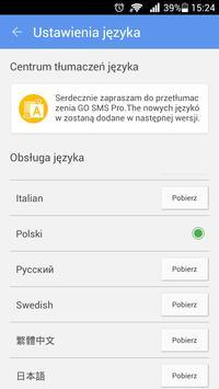 GO SMS Pro Polish language apk screenshot