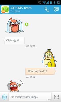 GO SMS Pro Bobo&Banana Sticker apk screenshot