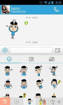 GO SMS Pro Kelvin Sticker apk screenshot