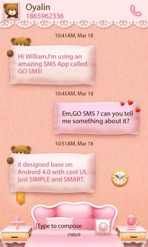 GO SMS PRO TEDDY THEME EX apk screenshot