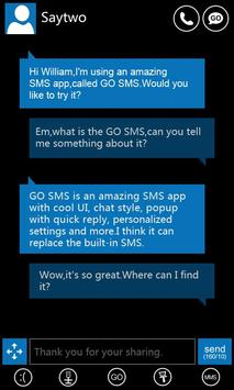 GO SMS Pro WP7 ThemeEX poster