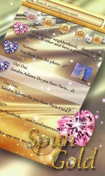 GO SMS PRO SPUN GOLD THEME poster