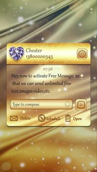 GO SMS PRO SPUN GOLD THEME apk screenshot