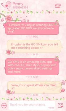 GO SMS Pro Love Petal Theme EX poster