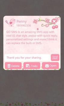GO SMS Pro Love Petal Theme EX apk screenshot