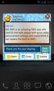 GO SMS Pro ShowerRoom ThemeEX apk screenshot