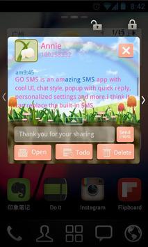 GO SMS PRO Spring SuperThemeEX apk screenshot