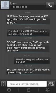 GO SMS Pro Black Texture Theme poster