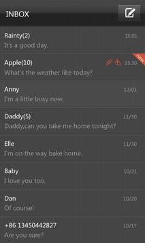 GO SMS Pro Black Texture Theme apk screenshot