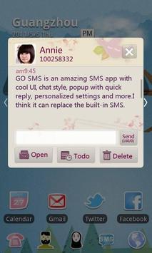 GO SMS Pro Love Letter Theme apk screenshot
