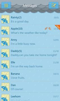 GO SMS Pro Rainy day Theme poster