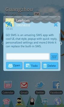 GO SMS Pro Rainy day Theme apk screenshot