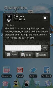 GO SMS Pro Thief Theme apk screenshot