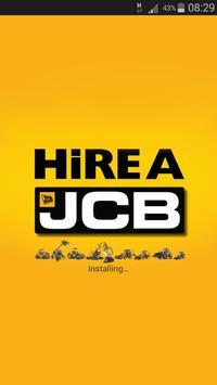 Hire A JCB poster