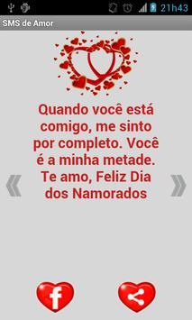 Mensagens de Amor (SMS) apk screenshot