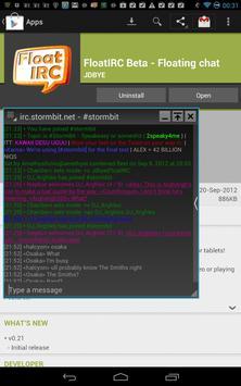 FloatIRC Beta - Floating Chat apk screenshot