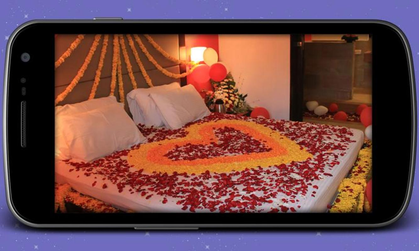 Suhagrat bedroom decoration apk download free lifestyle for Bed decoration with net