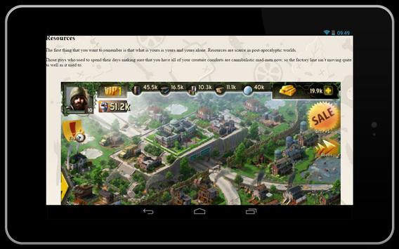 Cheats for Last Empire-War Z apk screenshot