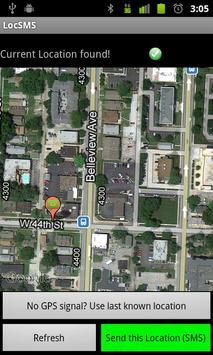 LocSMS - Text GPS Coordinates! apk screenshot