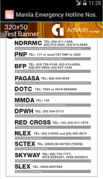 Philippines Manila Hotline Nos apk screenshot
