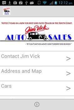 Jim Vick Auto Sales poster