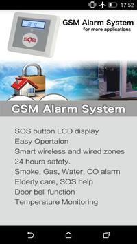 K3 GSM Security Alarm poster