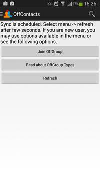 Off Contacts apk screenshot