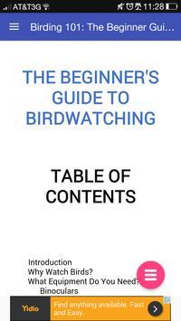 Birding 101: Birdwatching Book poster