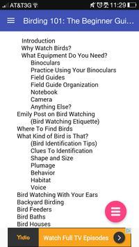 Birding 101: Birdwatching Book apk screenshot