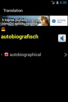 English-German Lexicon apk screenshot