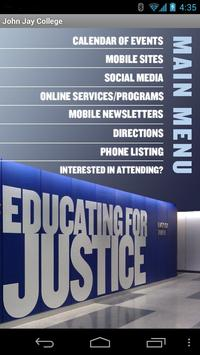 John Jay College - CUNY App poster