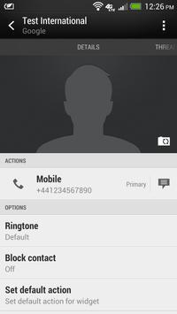 International Dialer apk screenshot
