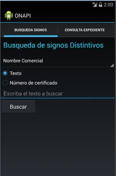 Búsquedas ONAPI apk screenshot
