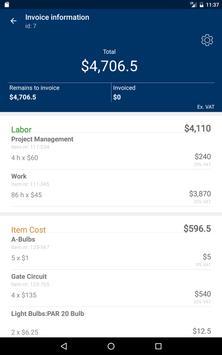 Jobbile Time & Work order apk screenshot