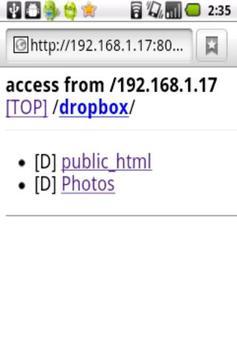 SimpleHTTPServer apk screenshot