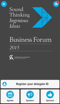 Business Forum - Adelaide poster