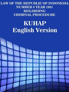 KUHAP English Version poster