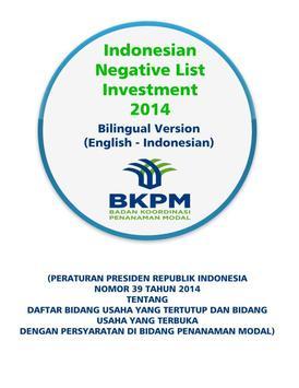 Negatif List Investasi BKPM poster