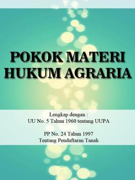 Pokok Materi Hukum Agraria poster