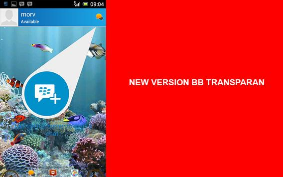 Theme bbm® transparent apk screenshot