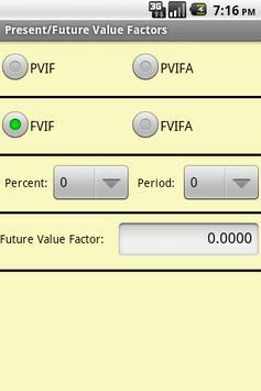 PVIF and FVIF Factors apk screenshot